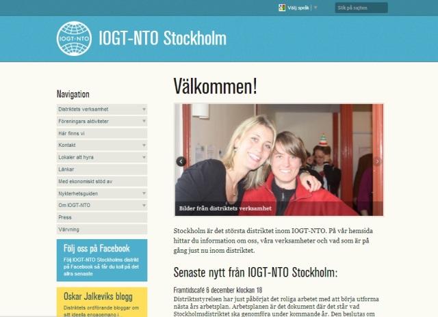 Stockholms distrikts nya sajt